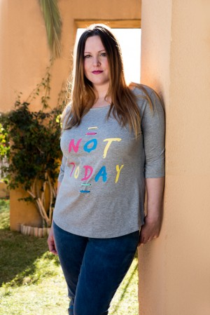 CAMISETA NOT TODAY R-6317